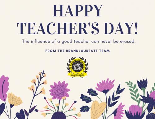 Happy Teacher's Day From The BrandLaureate Team!