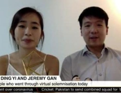 COVID-19: Couples tie the knot in virtual solemnization