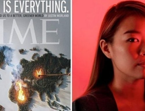 RED HONG-YI'S FIERY ARTWORK FOR TIME COVER ON CLIMATE CHANGE
